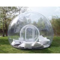 Wholesale 1.0mm PVC Clear Inflatable Bubble Tent / Camping Tent for Family Party 4m Dia from china suppliers