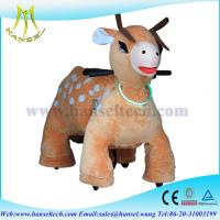 Wholesale Hansel juguetes montables electricos stuffed ride motorized animals from china suppliers