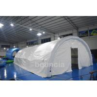 China Durable White Outdoor Airtight Tent / Inflatable Event Tent With 0.9mm PVC Tarpaulin on sale