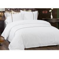 Quality Hotel Bedding Set 100% Cotton With 60S 300T King Size And White Color for sale