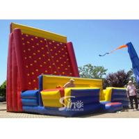 Quality Giant Rock Mountain Inflatable Climbing Wall For Outdoor Adults N Kids Interactive inflatable equipments for sale