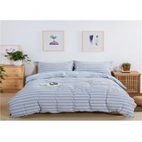 Wholesale Stripe Design Home Bedding Sets 200TC Washed Cotton With Blue Color from china suppliers