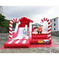 Winter Theme Inflatable Bounce House Slide Snowman Combo Jumpers ROHS EN71