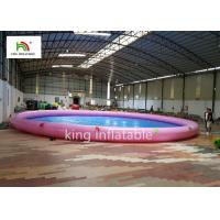 China 18m Diameter Round Inflatable Swimming Pools With Animal Printing PVC on sale