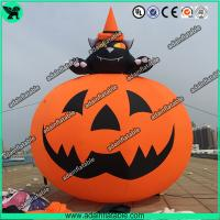 Wholesale 3M Party Inflatable Pumpkin / Halloween Inflatables With Smiling Face from china suppliers