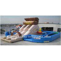 Wholesale pirate giant inflatable with slide from china suppliers