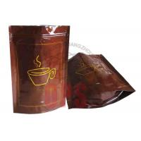 Wholesale Small Resealable Plastic Zipper Bags Packaging , Coffee Stand Up Pouch from china suppliers