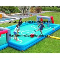 Wholesale China Price Customized Kids Inflatable Soccer Field 0.9MM PVC Tarpaulin Commercial Inflatable Football Field For Sale from china suppliers