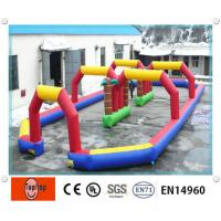 China Multi-color Portable Inflatable Sports Games , Inflatable Race Track For Car / Zorb Balls Sports Games on sale