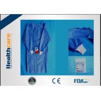 Buy cheap SMS Sterile Disposable Surgical Gowns , Disposable Theatre Gowns Anti - Blood S from wholesalers