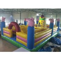 Wholesale Cartoon Peppa Pig Castle Combo Bounce House Maze With Rocking Climbing Wall from china suppliers