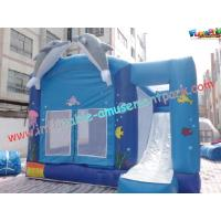 Wholesale Blue Outdoor Inflatable Bouncer Slide Commercial With Castles from china suppliers