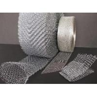 China High Stability Stainless Steel Knitted Wire Mesh , Demister Mesh Pad on sale