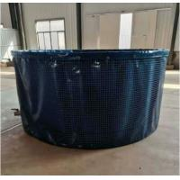 Wholesale 10000L Collapsible Aquaculture Round Large Fish Farm Tank with Steel Mesh 3m (D)* 1.4m (H) from china suppliers