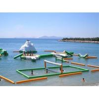 China 0.9mm PVC Inflatable Beach Volleyball Court For Inflatable Water Parks on sale