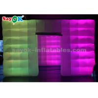 Quality cube LED light inflatable air tent for event / party / advertising for sale