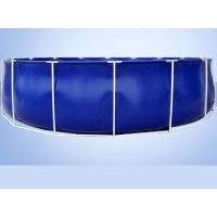 Wholesale 50000 Liters Folding Tarpaulin Fish Pond , Blue Color Aquarium Fish Tank With Steel Frame from china suppliers