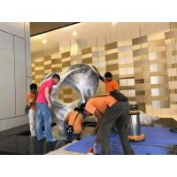 Quality Mirror Surface Circle Shape Large Outdoor Sculpture For Malaysia Inter Hotel for sale