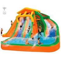 Wholesale Orange And Blue 0.55mm PVC Tarpaulin Inflatable Water Slide/New design Backyard Slide from china suppliers