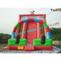 Wholesale Cute Clown Commercial Inflatable Slide , Giant Inflatable Slide For Children from china suppliers
