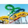 Buy cheap Hotel Resort Stimulating Aqua Park Tube Water Slide from wholesalers