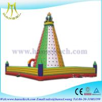 Wholesale Hansel Outdoor inflatable climbing walls ,giant inflatable rock climbing wall,inflatables from china suppliers