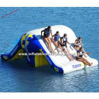 China Commercial Inflatable Water Totter Slide , Large Inflatable Water Toys For Lakes on sale