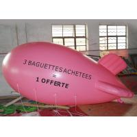 Wholesale Large Pink Inflatable Balloons Airship Model For Advertising Event / Airship Balloon Flying from china suppliers