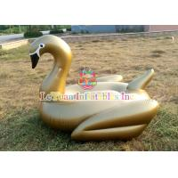 Wholesale Golden Swan Inflatable Pool Floats / Water Float Toys With HD Printing from china suppliers