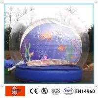 China Inflatable Show Globel With Custom , OEM Large Outdoor Transparent Blow Up Snow Ball on sale