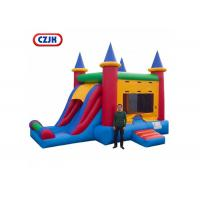 Wholesale Removable PVC Triple Play Moonwalk Double Slide Combo 3 Years Warrenty from china suppliers