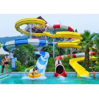 Wholesale Spiral Water Slides For Holiday Resort Water Park Equipment Combination Water Slide from china suppliers
