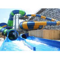 Wholesale Custom Construction , Fiberglass Super Bowl Water Slide For Swimming Pool from china suppliers