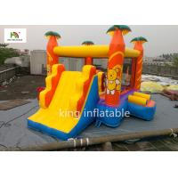 Yellow Cartoon Inflatable Jumping House With Climb Slide Outdoor Entertainment
