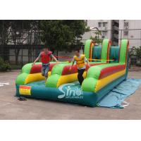 Wholesale 10m long double lane kids N adults inflatable bungee run for interaction games from china suppliers