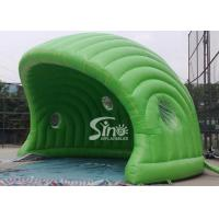 Wholesale 30 x 21 ft half moon display promotion green inflatable tent made of best pvc tarpaulin from china suppliers