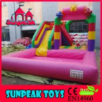Buy cheap WL-1850 Factory Cheap Inflatable Bouncy Water Slide For Kids from wholesalers
