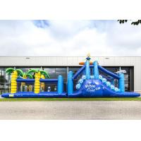 Wholesale Giant Crazy Inflatable Obstacle Race Blue Color For Kids And Adults from china suppliers