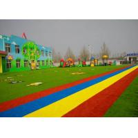 Wholesale PE + PP Material Kindergarten Flooring With Flat Yarn Shape Light Green from china suppliers