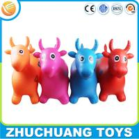 Wholesale non-toxic eco friendly plastic inflatable cow jumping horse toy from china suppliers