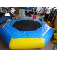 Wholesale Yellow / Blue 3m Diameter Inflatable Water Park Trampoline PVC Toy For Water Park from china suppliers
