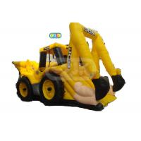 China Construction Digger Truck Bouncer Inflatable Bounce House Customized Size on sale