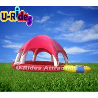 Buy cheap 0.9-1.0mm PVC Round Inflatable Swimming Pools Tent Hot Welded For Playing Center from wholesalers