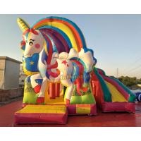 Buy cheap Kids Unicorn Jumping Castle With Cartoon Character Themes / Baby Bouncer Jumper from wholesalers
