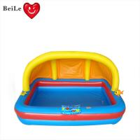 Wholesale Customized 0.25mm PVC(EN71) yellow and blueinflatable baby bath pool from china suppliers