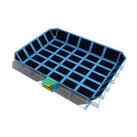 Wholesale play center commercial trampoline park teenager small indoor trampoline with safety net from china suppliers