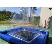 China Transparent Airtight Inflatable Camping Bubble Tent 2.4mL*2.4mW*2.5m H on sale