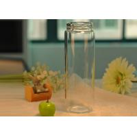 Easy carry light borosilicate thermal insulation drinking glass bottle