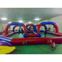 China Red Race Track For Inflatable Amusement Park ,Inflatable Kids Toys on sale