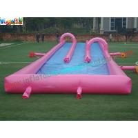 400m Three Lane Splash Outdoor Inflatable Water Slides for Crazy Custom